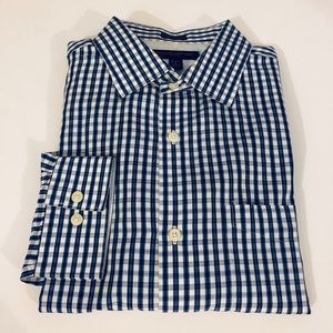 Banana Republic Blue, White & Navy Plaid Shirt L